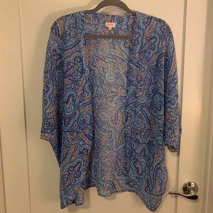 "Blue patterned ""kimono"""